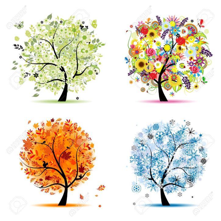 8099006-quatre-saisons-printemps-été-automne-hiver-art-arbre-magnifique-pour-votre-conception-