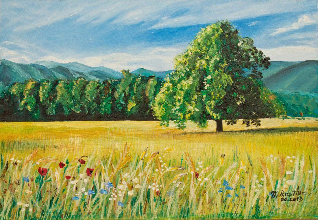 buchete din lanul copilariei de mihaela cd pictura Mircea Rustiuc