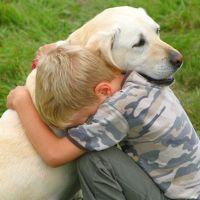 Un copil frumos şi-un câine