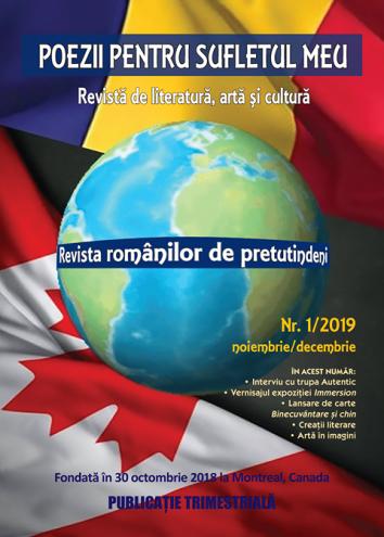 Revista nr 1/2019 Poezii pentru sufletul meu ,revista romanilor de pretutindeni
