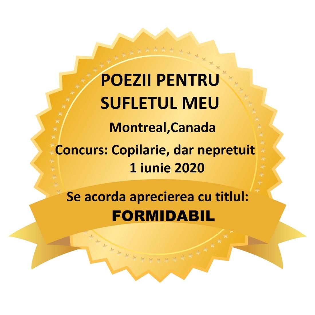 CONCURS COPILARIE-FORMIDABIL